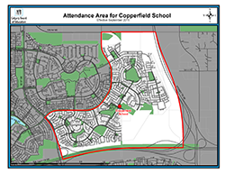 Copperfield School Attendance Area map